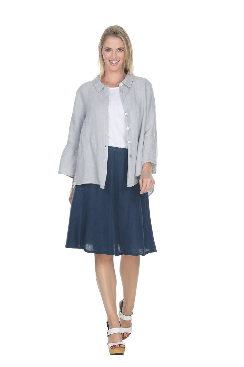 Knee-length Skirt Linen - The Post Office by Shannon Passero. Fashion Boutique in Thorold, Ontario