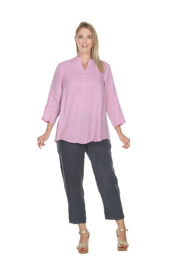 3/4 Sleeve Pullover Top Linen - The Post Office by Shannon Passero. Fashion Boutique in Thorold, Ontario