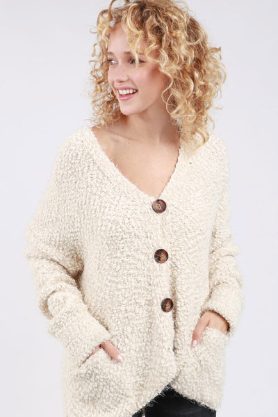 Mohair Buttondown Cardigan POL Clothing Canada