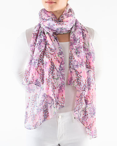Fresh Flower Scarf Printed Village Canada