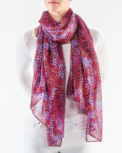 Fuchsia and Scarlett Scarf