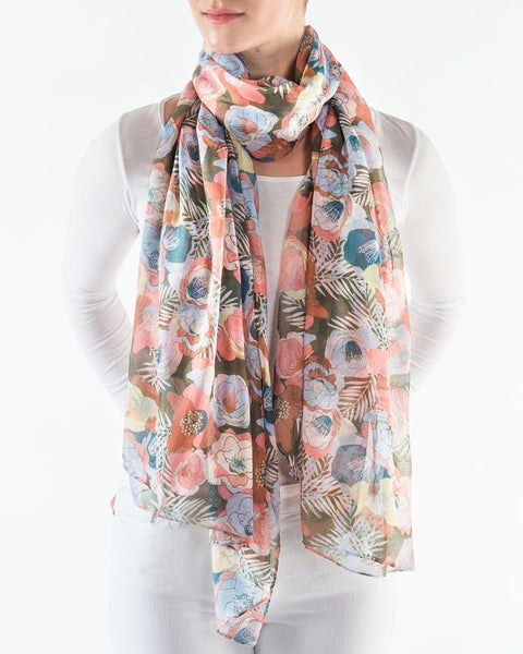 Moody Jungle Scarf Printed Village