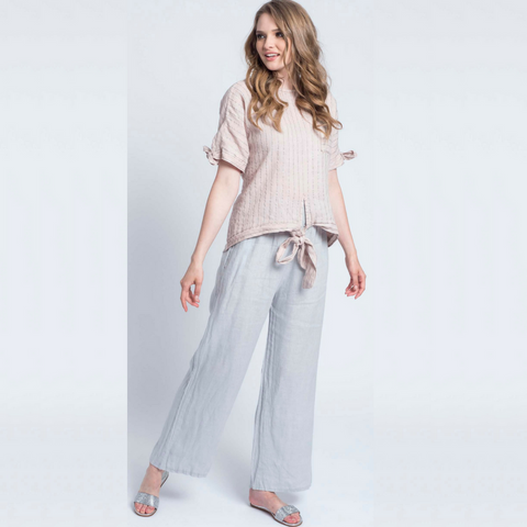 Banded Linen Pant