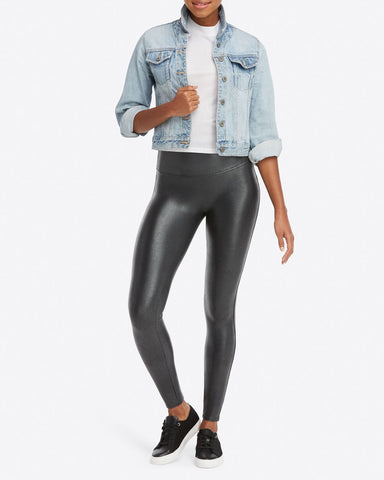 Spanx Faux Leather Pebbled Leggings Canada