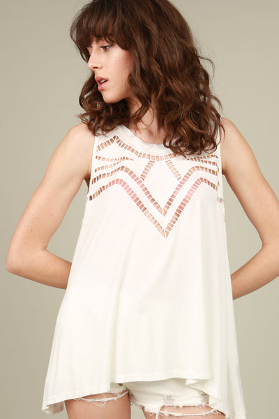 Overlapped Back Cutout Top POL Clothing Canada
