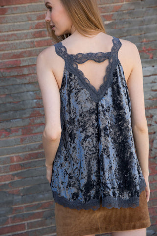 Lace Velvet Cami Top