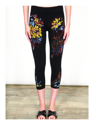 Floral Cropped Legging