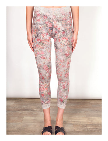 Field of Flowers Crop Leggings Shannon Passero Design Canada