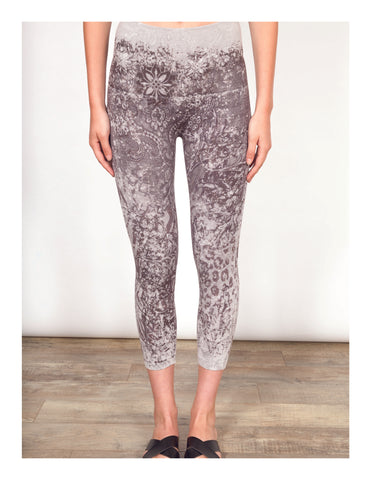 Floral Ornament Crop Leggings Shannon Passero Design Canada