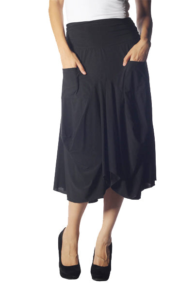 Flowy Draped Skirt Bottoms - The Post Office by Shannon Passero. Fashion Boutique in Thorold, Ontario