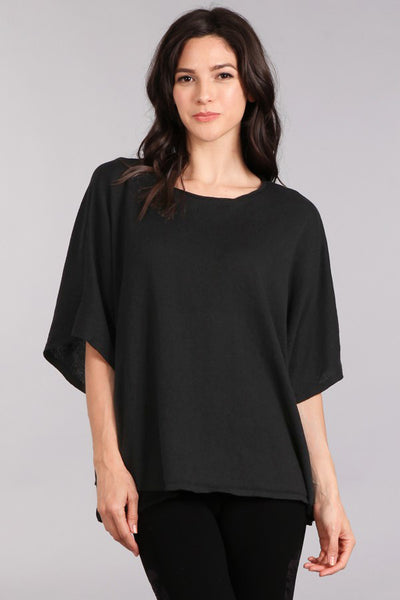 Boxy Draped Sweater Top