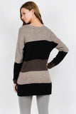 Striped Sweater Tunic M Rena
