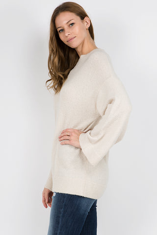 Wide Sleeve Sweater Tunic