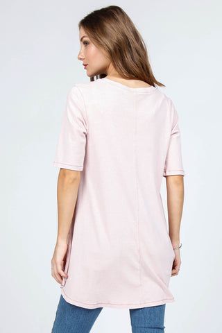 Contrast Thread SS Tunic