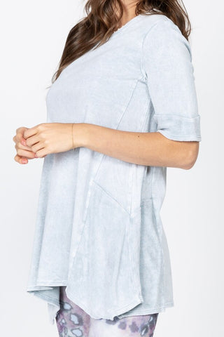Mineral Wash Round Neck Tunic
