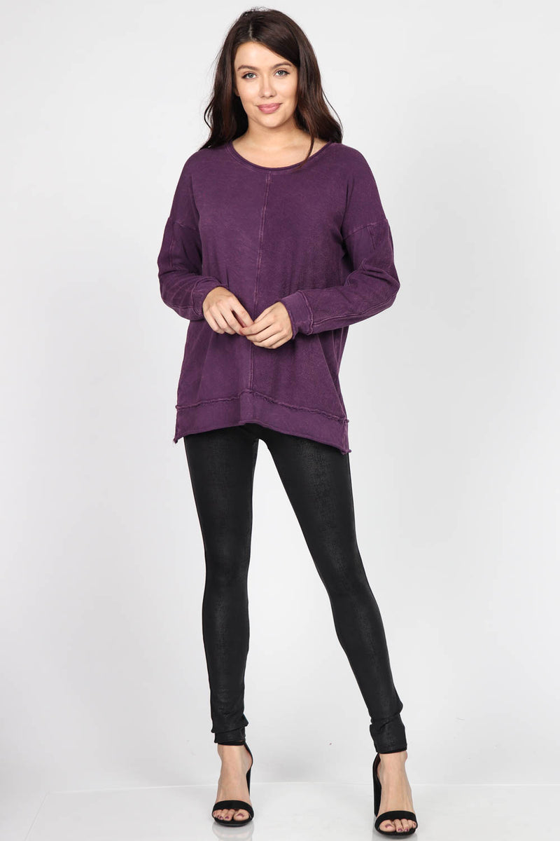 Roundneck French Terry Sweater Tops - The Post Office by Shannon Passero. Fashion Boutique in Thorold, Ontario