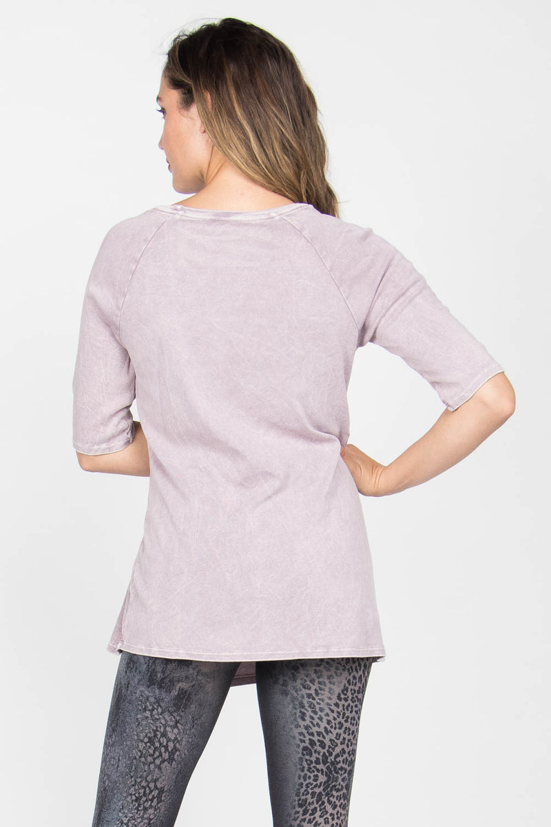 Mineral Wash Round Neck Tunic Tops - The Post Office by Shannon Passero. Fashion Boutique in Thorold, Ontario