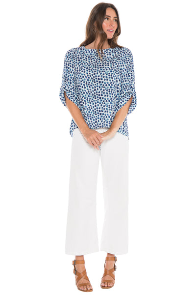 Printed Dot Blouse Side Stitch Canada