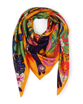 Toucan Print Satin Scarf Accessories - The Post Office by Shannon Passero. Fashion Boutique in Thorold, Ontario