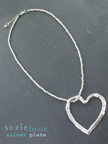 Beaten Heart Necklace