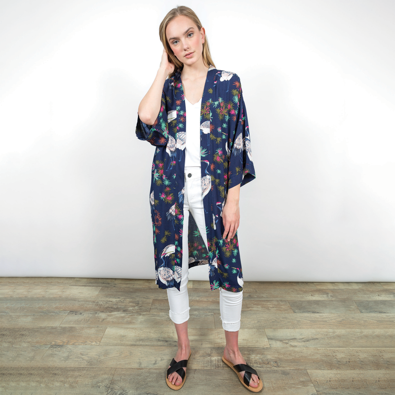 Adley Kimono Cardigan Coverups - The Post Office by Shannon Passero. Fashion Boutique in Thorold, Ontario