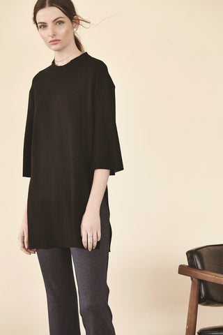 Double Ponte Side Slit Tunic