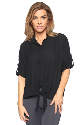 Sheer Tie Front Top