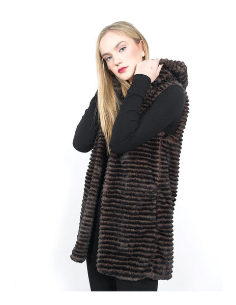 Hooded Faux Fur Vest Shannon Passero