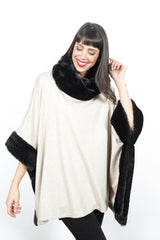 Square Poncho w/ Faux Fur Tops - The Post Office by Shannon Passero. Fashion Boutique in Thorold, Ontario