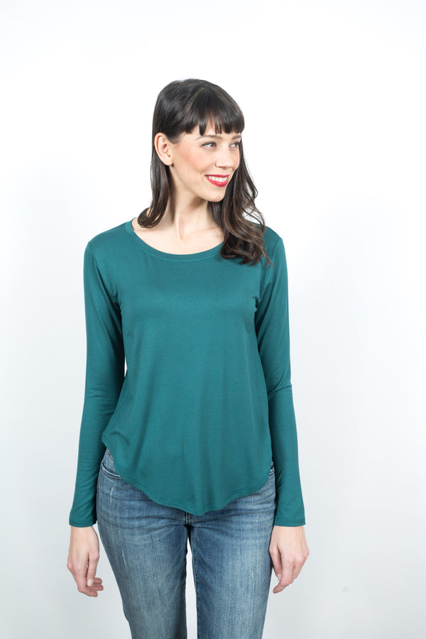 Finley Long Sleeve Crew Neck Tops - The Post Office by Shannon Passero. Fashion Boutique in Thorold, Ontario