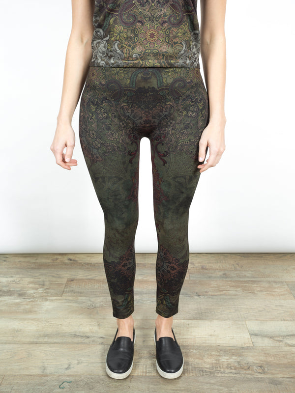 High Waisted Leggings Mandala Bottoms - The Post Office by Shannon Passero. Fashion Boutique in Thorold, Ontario