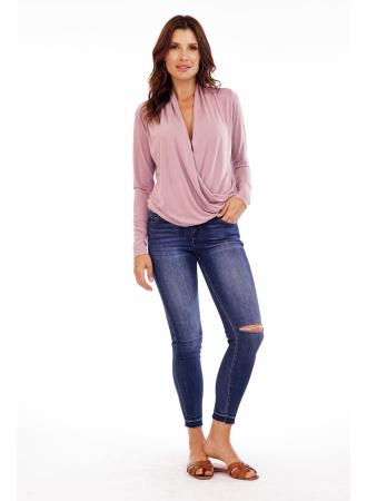 Cupro Long Sleeve Top