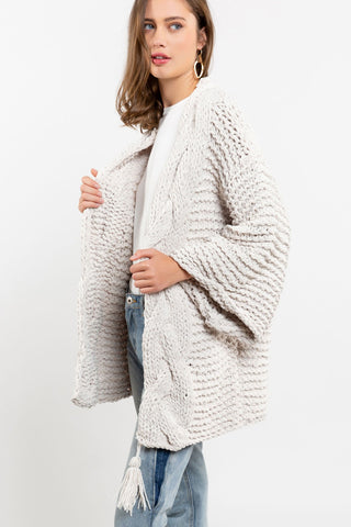 Chenille Bell Sleeve Cardigan