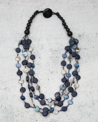 Beaded Blue Willa Necklace