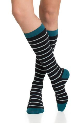 Naut Stripe Compression Socks