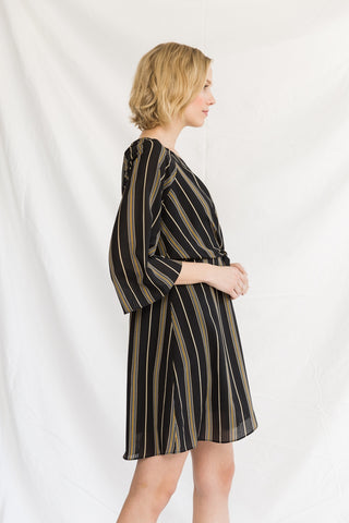 Tied Up Stripe Raglan Dress