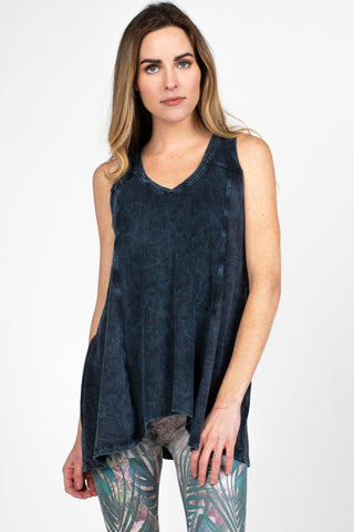 Mineral Wash Vneck Tunic