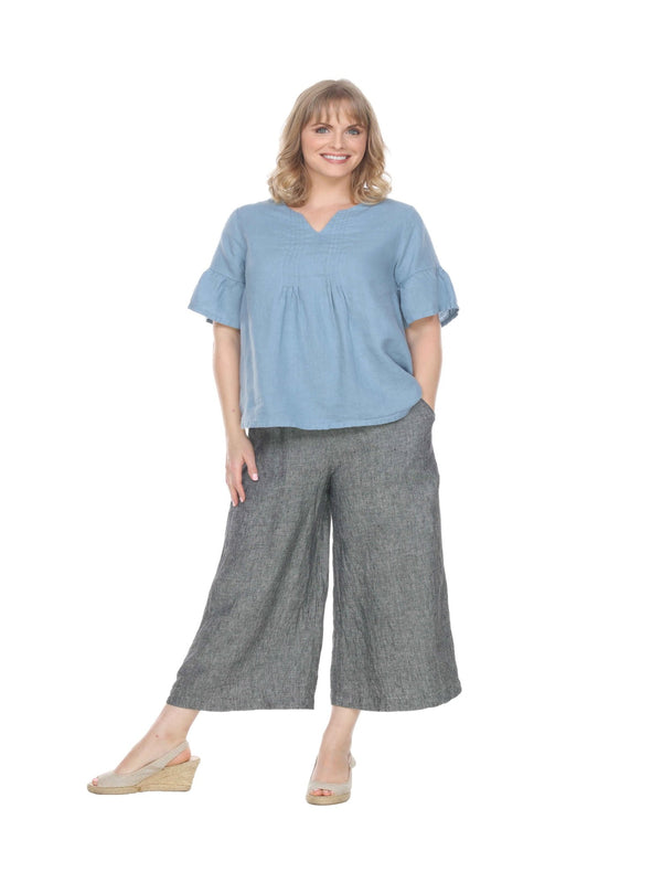 Wide Leg Linen Pant Linen - The Post Office by Shannon Passero. Fashion Boutique in Thorold, Ontario