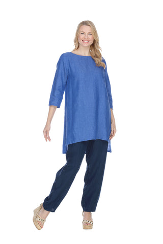 Linen RoundNeck Pullover Tunic Match Point