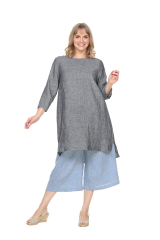 Linen RoundNeck Pullover Tunic