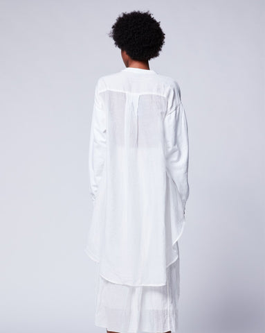 Silk Hi-Lo Pleat Back Tee