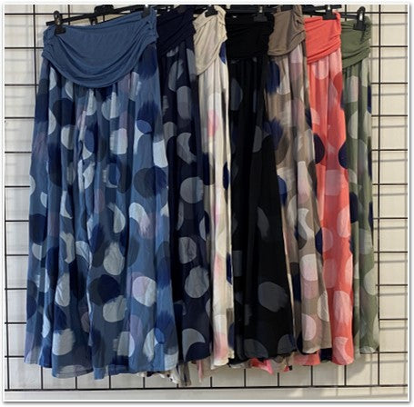 Big Circle Print Silk Pant Bottoms - The Post Office by Shannon Passero. Fashion Boutique in Thorold, Ontario