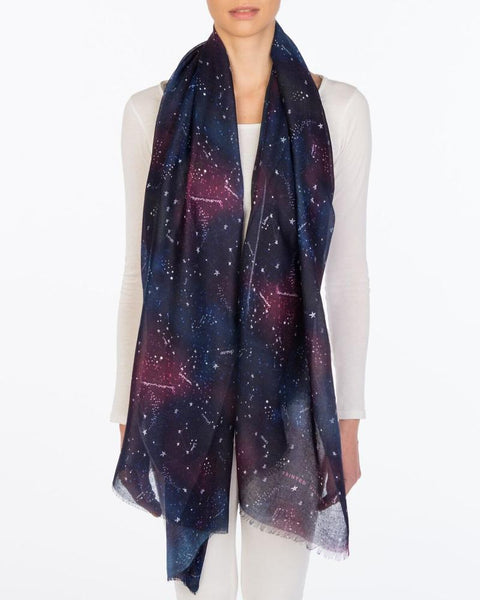 Zodiac Constellations Scarf Printed Village Canada