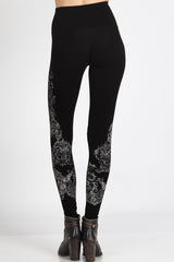 Baroque Scrolls Print Legging Bottoms - The Post Office by Shannon Passero. Fashion Boutique in Thorold, Ontario