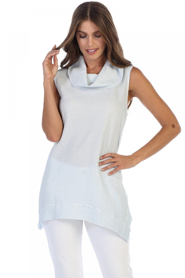 Mockneck Sleeveless Tunic Tops - The Post Office by Shannon Passero. Fashion Boutique in Thorold, Ontario