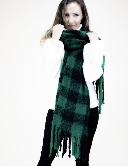 Classic Black Stripe Scarf Accessories - The Post Office by Shannon Passero. Fashion Boutique in Thorold, Ontario