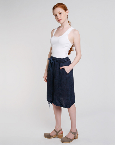 Vintage Wash Drawstring Skirt