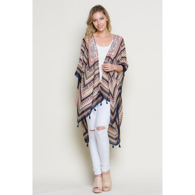 Abstract Print Kimono Tops - The Post Office by Shannon Passero. Fashion Boutique in Thorold, Ontario