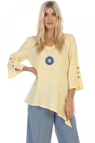 Vneck Sleeve Tunic Focus