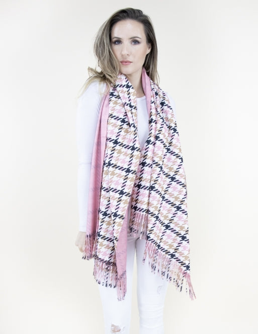 Mini Houndstooth Flannel Scarf Accessories - The Post Office by Shannon Passero. Fashion Boutique in Thorold, Ontario